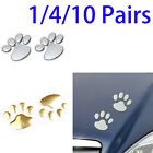 4/10 Pairs 3D Bear Cute Foot Prints Sticker Graphic Decal Badge Bumper Sticker