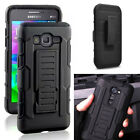 Heavy Duty Hybrid Hard Case Belt Clip Stand Shockproof Cover For Samsung Phone