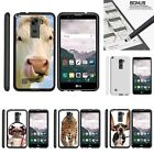For LG Stylus 2| Stylo 2| Slim Fit Hard 2 Piece Case Silly Animals