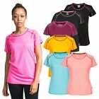 Trespass Mamo Womens Reflective Top Short Sleeve T-Shirt for Hiking and Workout