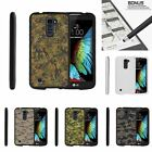 For LG K10 Slim Fit Hard 2 Piece Case Colored Camouflage