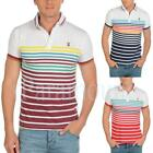 Soulstar Hutto Striped Pique Polo Shirt  Mens Size