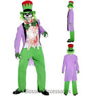 CL905 Mens Bad Hatter Halloween Zombie Evil Costume Twisted Alice In Wonderland