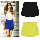 Fashion summer Women Girl's Mid Waist Pleated Korean A-Line Cross Casual Skirt