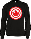 Canada Maple Leaf Symbol Circles Emblem National Canadian Country Men's Thermal