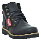 Levis Compass Leather Men's Boots Black 516992-01a