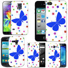 Motif case cover for Mobile Phones - blue moth daisy drop