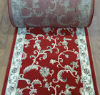"""Rug Depot Hall and Stair Runner Remnants - 32"""" Wide - Red..."""