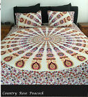 QUEEN SIZE Quilt Cover Mandala Duvet Throw Cotton Doona Country Rose Peacock