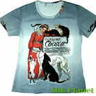 Theophile Steinlen Chinique Cheron CAT DOG T SHIRT TOP TEE FINE ART PRINT POSTER