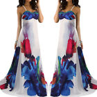Sexy Ladies Floral Maxi Boho Summer Long Skirt Evening Cocktail Party Dress