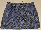 GAP Women's Purple & Black Chevron Patterned Skirt Size 8