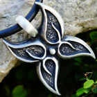 GUIDE SOUL GRACE GROWTH Resurrecti​on Spirit Celtic Butterfly Pewter pendant