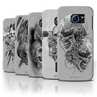 STUFF4 Phone Case/Back Cover for Samsung Galaxy S6/G920 /Skull Art Sketch