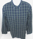BANANA REPUBLIC Men's Navy & Green Plaid Button Down Shirt Sizes XL & XXL