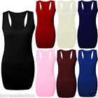 Ladies Women Plain Bodycon Racer Back Muscle Vest Sleeveless Gym Top