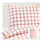 IKEA LISEL - Duvet Cover and 2 Pillowcases Queen Red PolyCotton