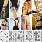 1Pc Black Henna Lace Temporary Tattoo Metallic Tattoo Inspired Sticker Body Art $1.05 USD on eBay