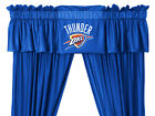 "Oklahoma City OKC Thunder Jersey Valance & 63"" or 84"" Curtain Set"