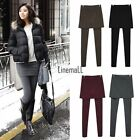Hot Women Winter Thick Warm Skirt Leggings Waist Yoga Pant Lounge Culottes LM