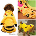 PC1 Pikachu Pokemon Pet Dog Cat Winter Clothes Puppy Clothing Jacket Costume