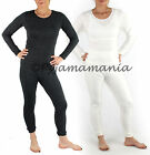 Thermals Ladies Wool Blend Thermal Underwear 2pc Set Beige or Black (sz 8-20) Si