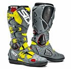SIDI CROSSFIRE 2 SRS BOOTS BLACK GREY FLUO OFF ROAD MOTOCROSS ENDURO MX CHEAP