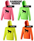 HORSE RIDING / PONY Electric Pink, Green, Orange or Yellow PERSONALISED FREE