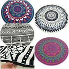 NEW Round Geometric Printed Table Cover Yoga Mat Beach Towel Throw Tapestry - CB
