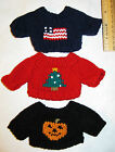 Mini Sweaters Halloween Christmas 4th July Flag New tree ornaments you choose