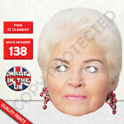 Pam St Clement aka Pat Butcher Celebrity Card Mask Eastenders New u