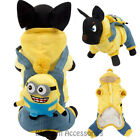 PC7 Dog Cartoon Minion Pet Clothes Coat Doggie Puppy Cat Costume Coat Outfit