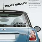 Your the Reason Your Kids Are Ugly Funny Vinyl Die Cut Decal Sticker JDM #0162