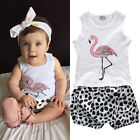 2pcs Toddler Infant Baby Boy Girl Clothes T-shirt Tank Tops+Pants Outfits Set