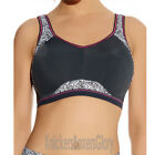 Freya Active Underwired Moulded Crop Top Sports Bra Zinc Print 4004 Select Size