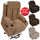 NAPOLI ELECTRIC DUAL MOTOR LUXURY FABRIC MASSAGE HEAT RISER RECLINER LIFT CHAIR