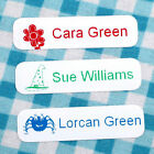 100 Personalised Iron On In Name Labels with Motif Tapes Back To School