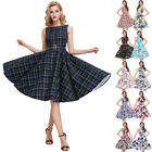 Hot Sale!Housewife 50s Retro Swing Pinup Dresses Vintage Cocktail Party Tea Ball