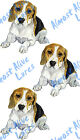 Beagle Dog Pet Fishing Hunting Decal Sticker - Auto Car Truck RV Cell Cup Boat