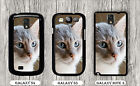 CAT GREY FACE CUTE CLOSE UP FACE CASE FOR SAMSUNG GALAXY S3 S4 NOTE 3 -ljk9Z