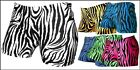 "NEW GemGear Womens 2 1/2"" Zebra Spandex Volleyball Shorts, Available in 5 Colors"