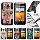 For ZTE Rapido LTE| Hybrid Hard Bumper Stand Case Indie Designs