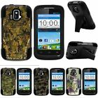 For ZTE Sonata| ZTE Radiant| Hybrid Hard Bumper Stand Case Abstract Camouflage