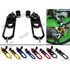CNC Axle Chain Adjusters Tensioner w/ Spool Fit 2009-2014 BMW S1000RR HP4 S1000R