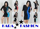 Sexy & Elegant Dress * Bodycon Tunic * Optical Body Illusion *size 8 10 12 *8448