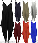 New Ladies Womens Cami Baggy Harem Jumpsuit Playsuit Plus Sizes