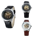 Fashion Men Business Dress Watch Mechanical Luxury Leather Wristwatch