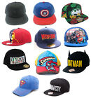 Marvel / DC Comics Baseball Snapback WideBill Cap - New Official Batman Superman