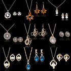 Smart And Fashion Style Women Alloy Crystal Necklace Earrings Jewelry Sets