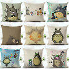 Totoro Fashion Home Decor Cute Pillow cases Cotton Linen Sofa Car Cushion Covers